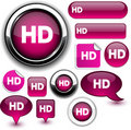 HD fuchsia signs. Royalty Free Stock Photo