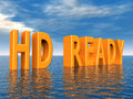 Hd ready computer generated d illustration with the letters Stock Photos