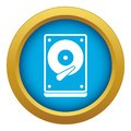 HDD icon blue vector isolated Royalty Free Stock Photo