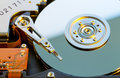 Hdd open device close up Stock Images