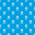 HDD pattern seamless blue Royalty Free Stock Photo