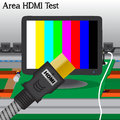 HDMI signal Test Stock Photo