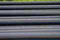 Hdpe pipe for water supply at construction site Royalty Free Stock Photo