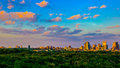 HDR Austin Skyline Vivid Evening Central Texas Royalty Free Stock Photo