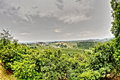 Hdr countryside landscape in abruzzo italy panorama from civitella del tronto Royalty Free Stock Images