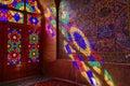 HDR of Nasir al-Mulk Mosque in Shiraz, Iran Royalty Free Stock Photo
