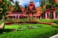 柬埔寨庭院hdr penh phnom 免版税库存图片
