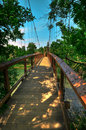HDR Suspension Bridge Royalty Free Stock Image