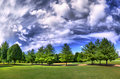 HDRI panorama of a park Royalty Free Stock Images