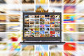 Hdtv internet broadcast media concept Stock Photos