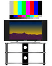 HDTV and Test Pattern Stock Photography