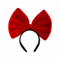 Head bands with red bow isolated on white background Royalty Free Stock Photo