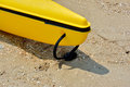 Head of boat boats floater stay on sand shown as marine sport and entertainment or enjoy Royalty Free Stock Image