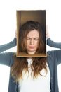 Head in box Royalty Free Stock Images