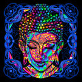 Head of a Buddha is a psychedelic painting