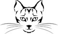 Head cat tattoo illustration of Royalty Free Stock Photography