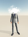 Head in cloud businessman with for Royalty Free Stock Image