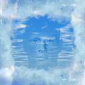 Head in the clouds Royalty Free Stock Images