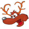 The head of the deer. Cartoon style. Clip art for children.