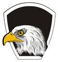 Head of eagle and clean icon