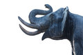 Head of elephant made from cement Royalty Free Stock Photo