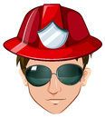 A head of a fire marshall illustration on white background Stock Photo