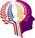 Head flower logo