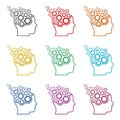 Head with gears icon, color icons set Royalty Free Stock Photo