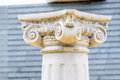 Head of Greek Column Royalty Free Stock Photo