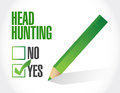 Head hunting checklist illustration design over a white background Royalty Free Stock Photo