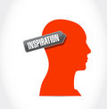 Head inspiration illustration design over a white background Royalty Free Stock Photo