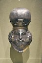 Head king gilded silver iran sasanian period th century d work art permanently displayed metropolitan museum art new york city usa Stock Photos