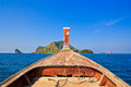 Head of long tail boat in the south of thailand at phi phi island krabi province Stock Photography