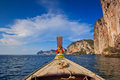Head of long tail boat in the south of thailand at phi phi island krabi province Stock Photo