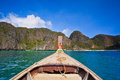 Head of long tail boat in the south of thailand at phi phi island krabi province Stock Images