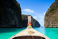 Head of long tail boat in the south of thailand at phi phi island krabi province Stock Photos