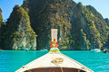 Head of long tail boat in the south of thailand at phi phi island krabi province Stock Image