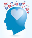 Head love processing concept of human in Royalty Free Stock Photography
