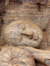Head of the lying buddha statue in anuradhapura Royalty Free Stock Photography