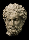 Head of Marcus Aurelius, roman emperor Royalty Free Stock Photo
