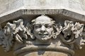 Head of pillar designed by jan matejko on cloth hall on main market square in cracow in poland krakow Royalty Free Stock Photo