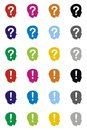 Head with a question and exclamation mark vector format Royalty Free Stock Photos