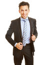 Head shot of dynamic business man smiling young Royalty Free Stock Photos