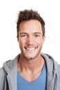 Head shot of happy smiling man Stock Photo
