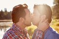 Head and shoulders shot of romantic male gay couple Stock Photography