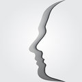 Head silhouettes. Brainstorm. Royalty Free Stock Photography