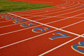 Head Start Running Track Royalty Free Stock Image