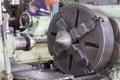 Head stock of lathe machine Royalty Free Stock Image