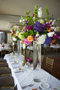 Head table with florals image of the at a wedding Stock Image
