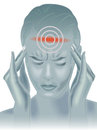 Headache simbolic illustration of the effects of Royalty Free Stock Photos